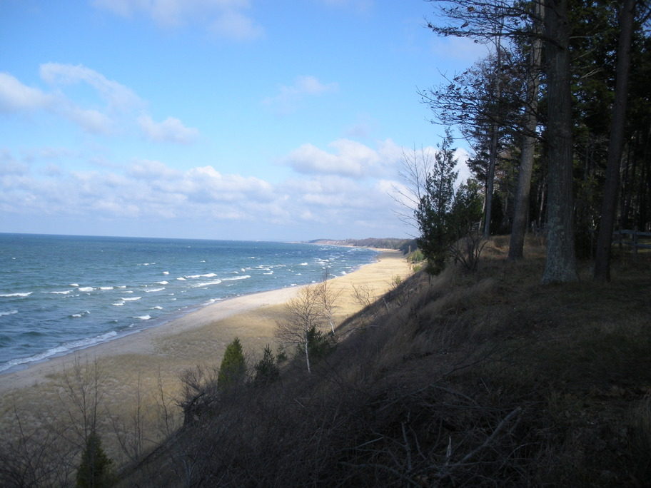 Manistee, MI: Lake Michigan from Magoon Creek