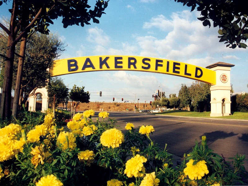 Bakersfield, CA : Relocated Bakersfield Sign