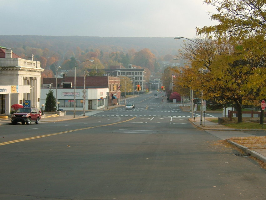 Bristol, CT : Autumn in Downtown
