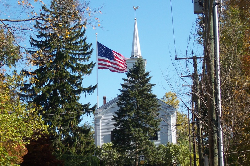 Newtown, CT : Patrotism, Religion, Nature, and Progress