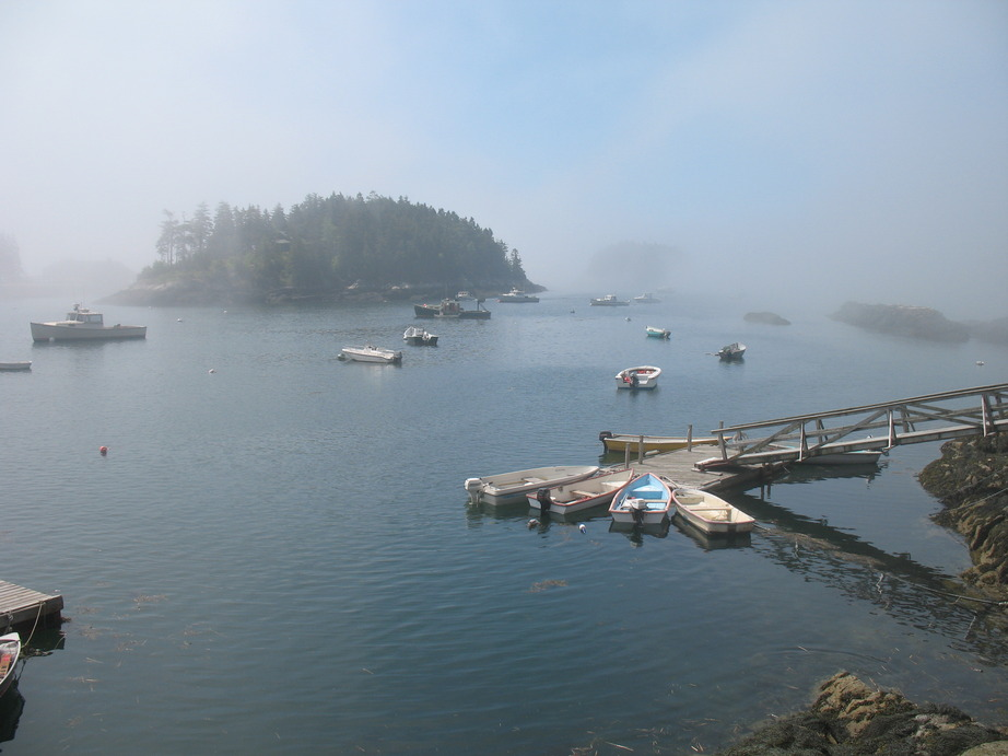 Georgetown, ME : The fog is lifting... (Five Islands, ME)