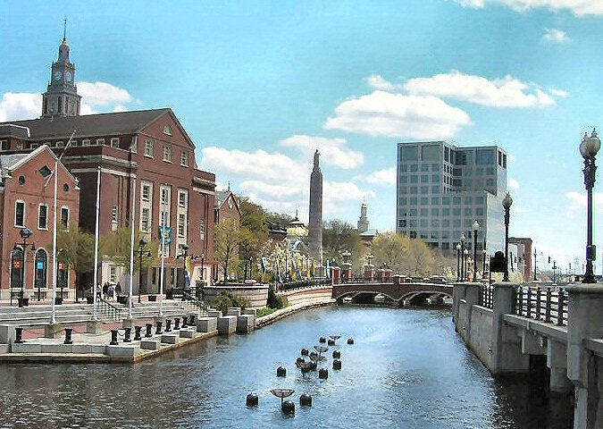 Providence, RI : A view of the Providence River, pride of the city.