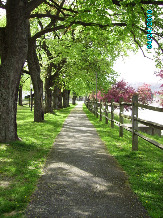 Clearfield, PA: Path in the park by the river