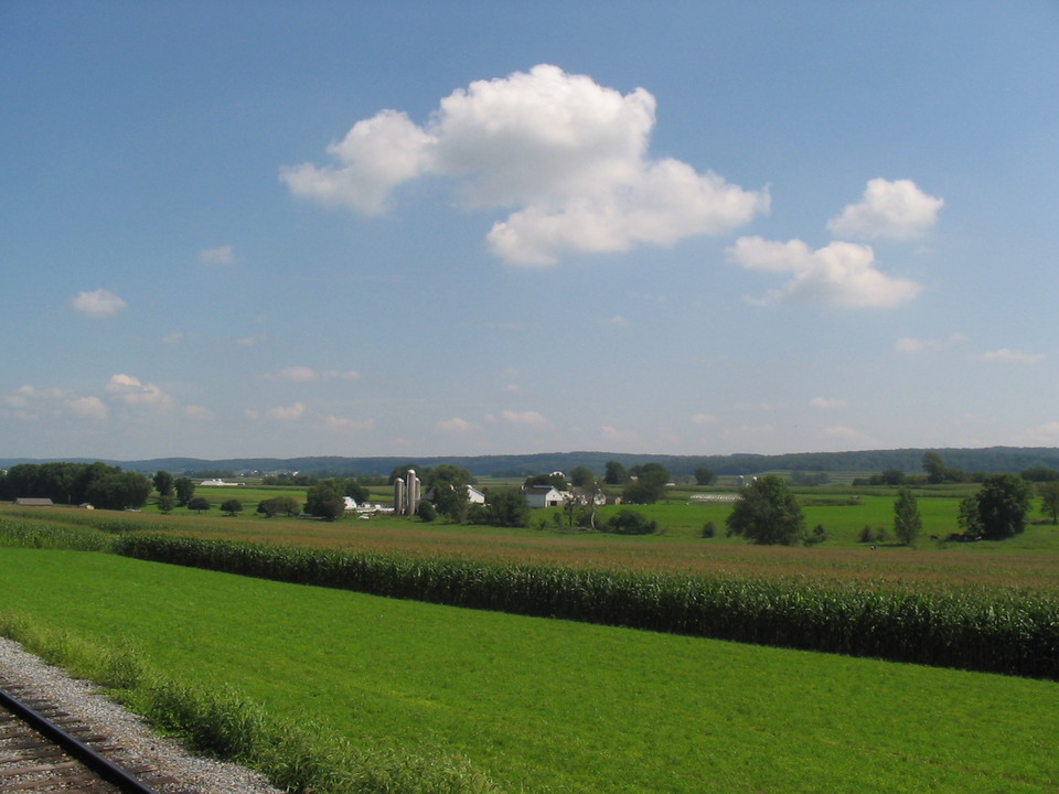Lancaster, PA : View from Strasburg Train Ride Beautiful Peaceful Lush Farmlands