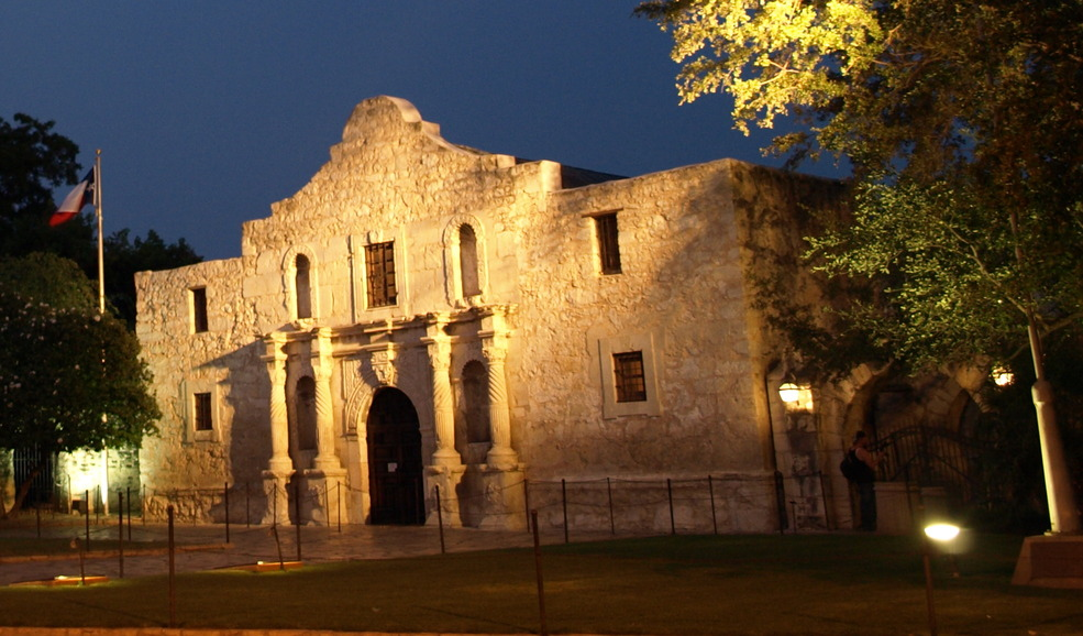 San Antonio Tx Alamo At Midnight Photo Picture Image