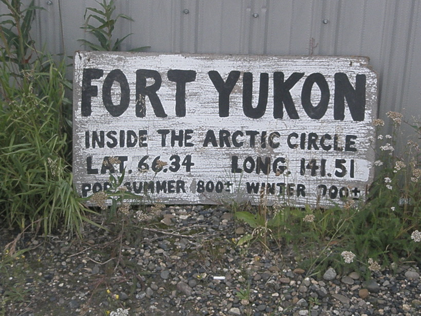 Fort Yukon, AK: Arctic Circle Lat;Long