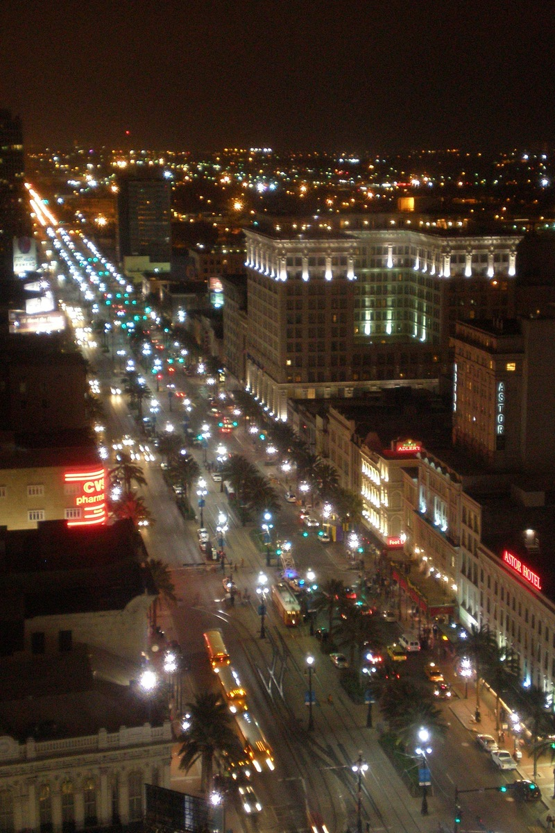 New Orleans, LA: Canal Street by Night