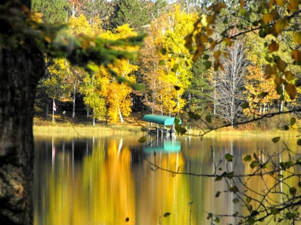 Winter, WI: fall on Black Dan Lake