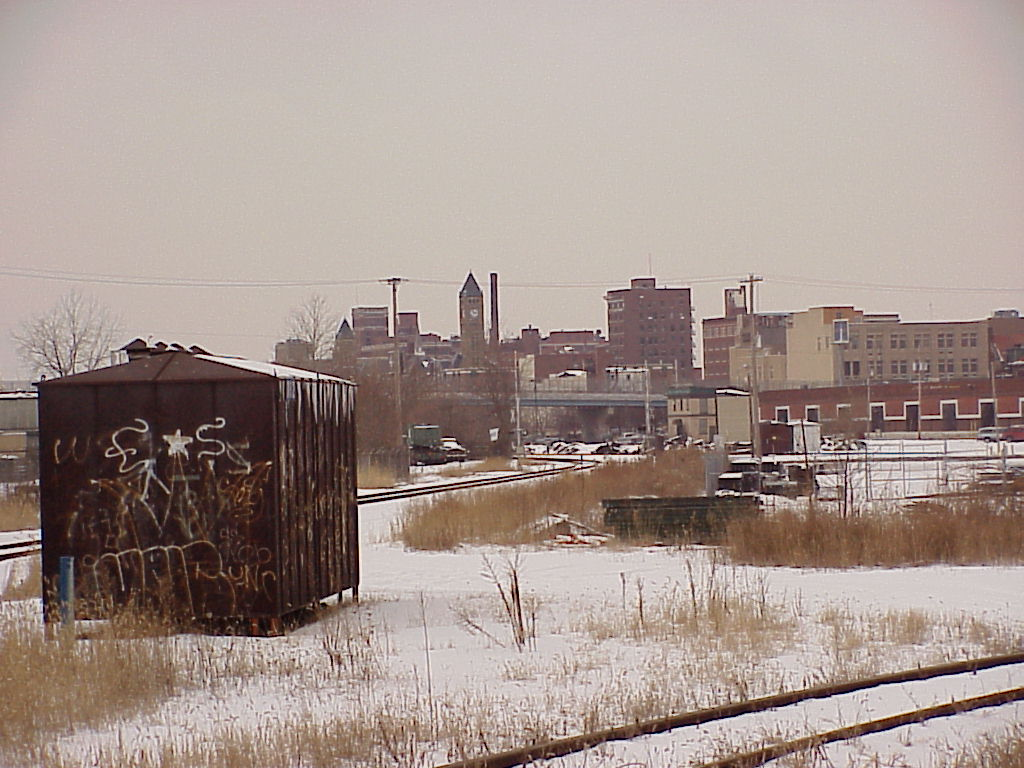 Springfield, OH: City of Springfield Oh from train tracks