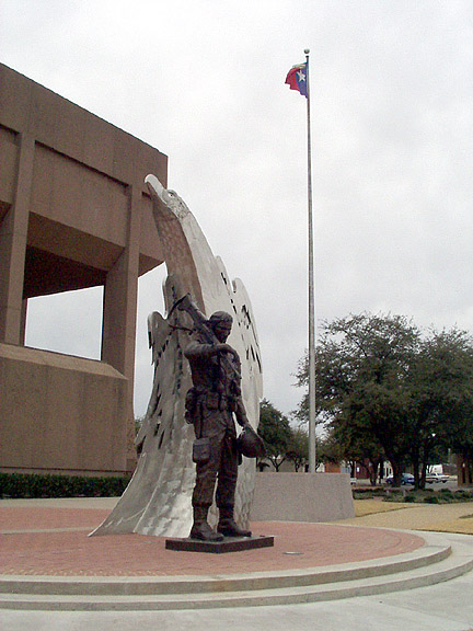 Abilene, TX : Memorial to the men and women of Taylor County who died serving their country.