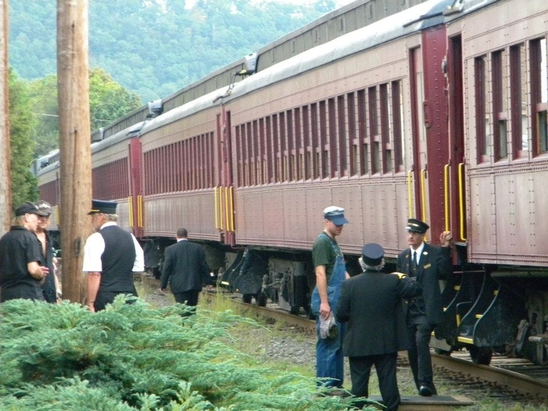 Schuylkill Haven, PA: Train by Borough Hall for Borough Day