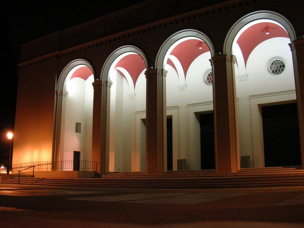 Claremont, CA : Bridges Auditorium at Night, The Claremont Colleges