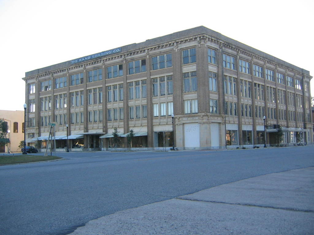 Pelham, GA: The Hand Trading Company building, downtown Pelham, Georgia