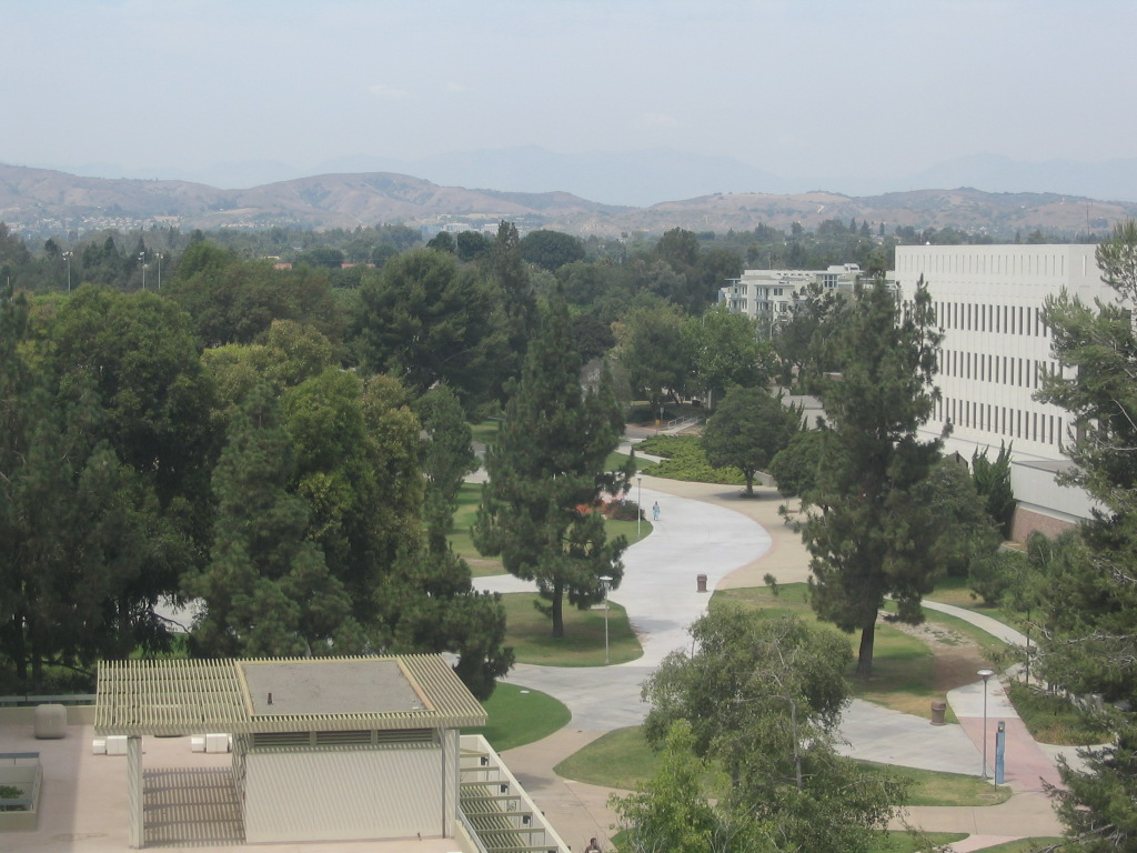 Fullerton, CA: Fullerton campus and nearby hills