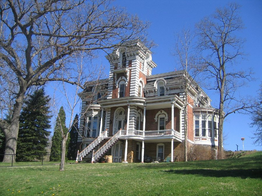 Morrison, IL: Second Empire Architecture-one of many beautiful mansions in Morrison