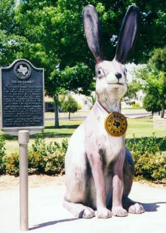 Odessa, TX : The 10-foot tall Jackrabbit statue in downtown Odessa