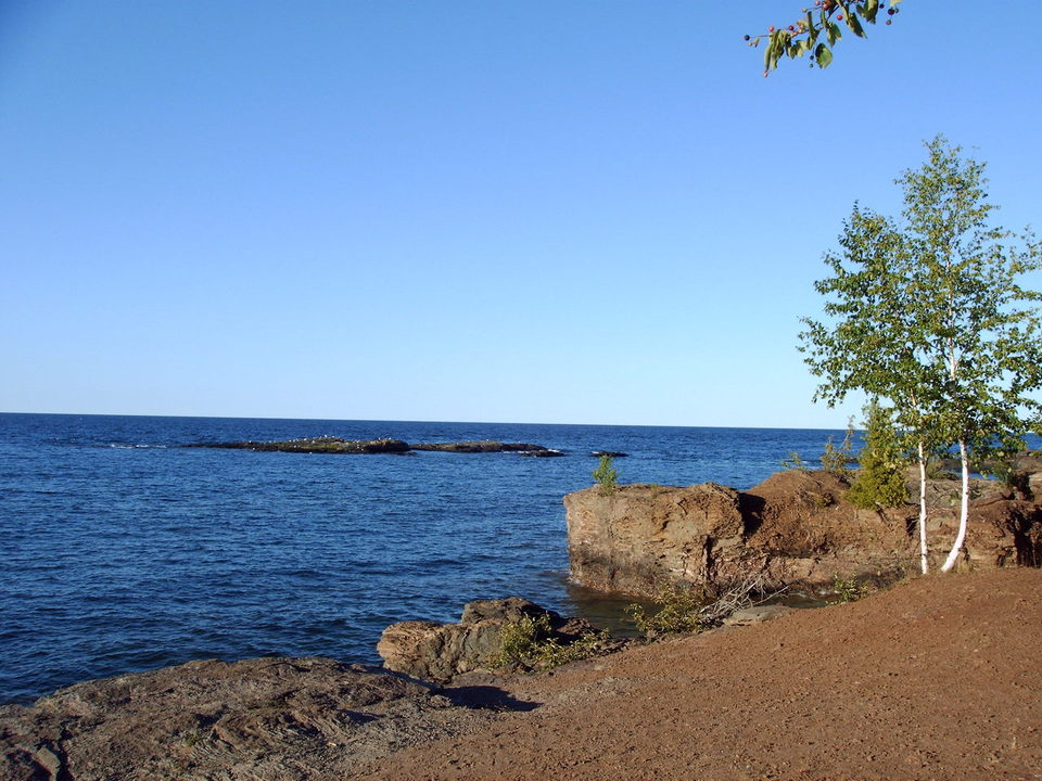 Marquette, MI : The North side of Presque Isle park.