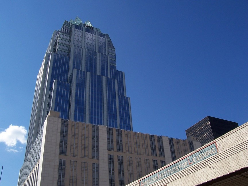 Austin, TX : Frost Bank Tower -- 613 feet tall, the tallest building in Austin