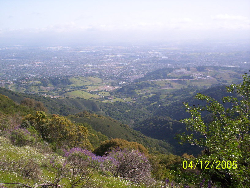 San Jose, CA: South San Jose from the Sierra Azul.