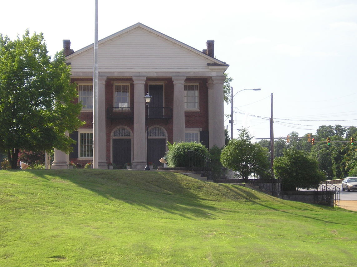 Decatur, AL: Picture of Old State Bank. Oldest bank building in State of Alabama.