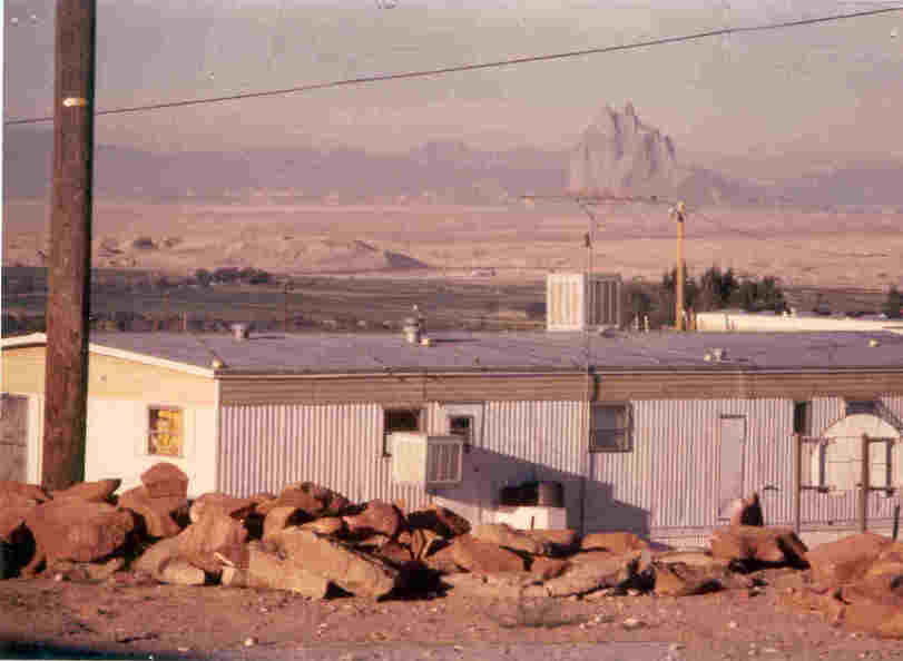Shiprock, NM : Shiprock from grounds of Shiprock United Methodist Church