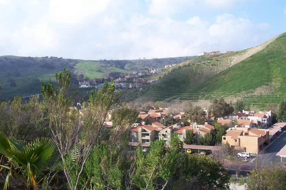 Calabasas, CA : View from Alizia Canyon in Calabasas