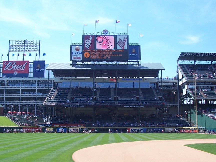 Arlington, TX : Ameriquest Field in Arlington -- Rangers Vs. Red Sox May 1, 2005