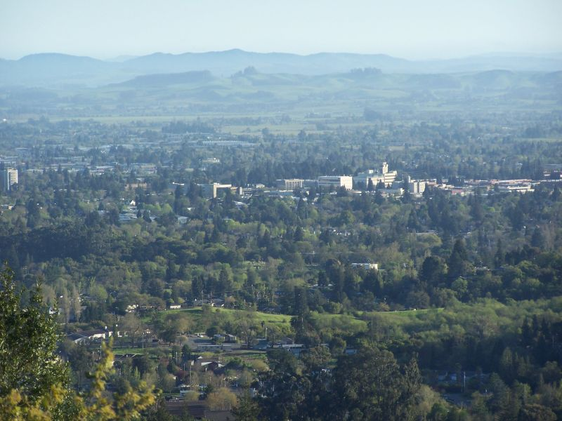 Santa Rosa, CA : View From Fountain Grove