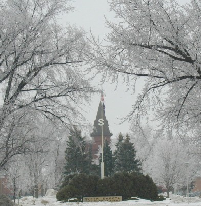 Wahpeton, ND : Old Main on NDSCS campus in Wahpeton - winter scene