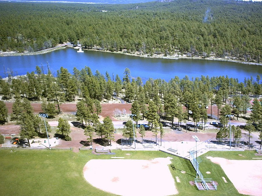 Pinetop-Lakeside, AZ : Woodland Lake Park - Aerial Photo taken from a Radio Control Model Airplane