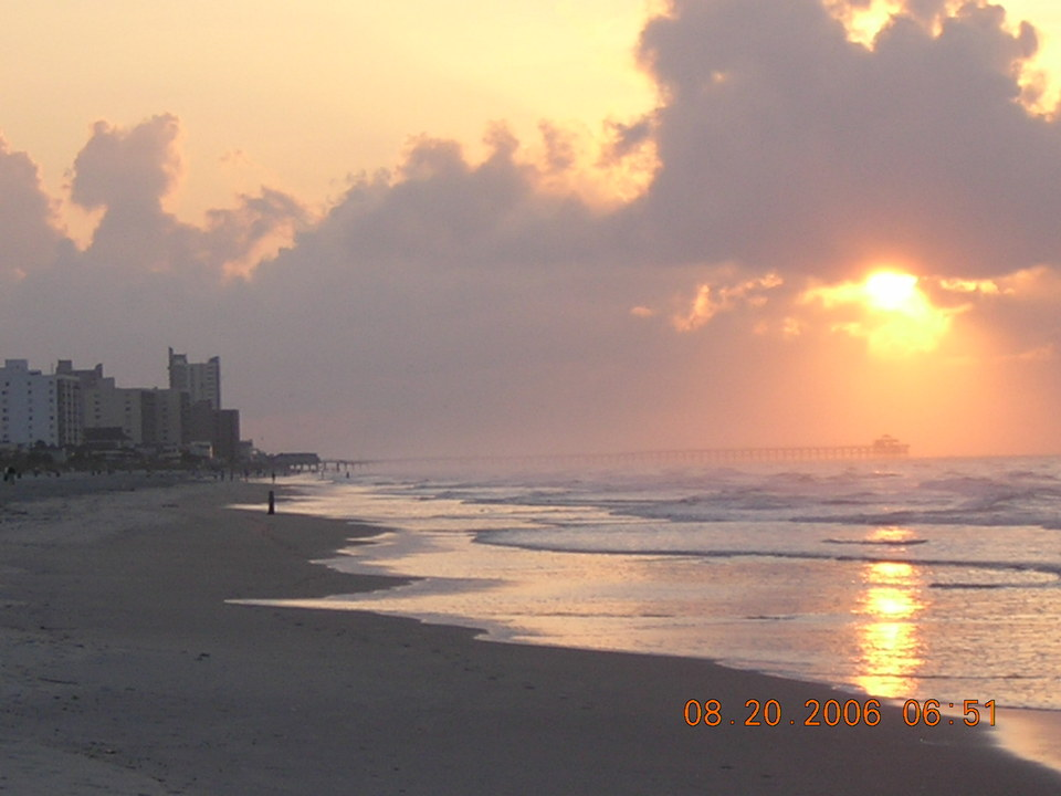 North Myrtle Beach, SC : Sunrise in North Myrtle Beach - Late Summer 2006