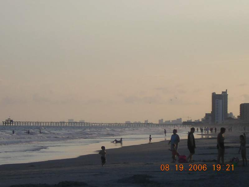 North Myrtle Beach, SC : From Cherry Grove Beach: Looking Southwest towards Myrtle Beach/Grand Strand
