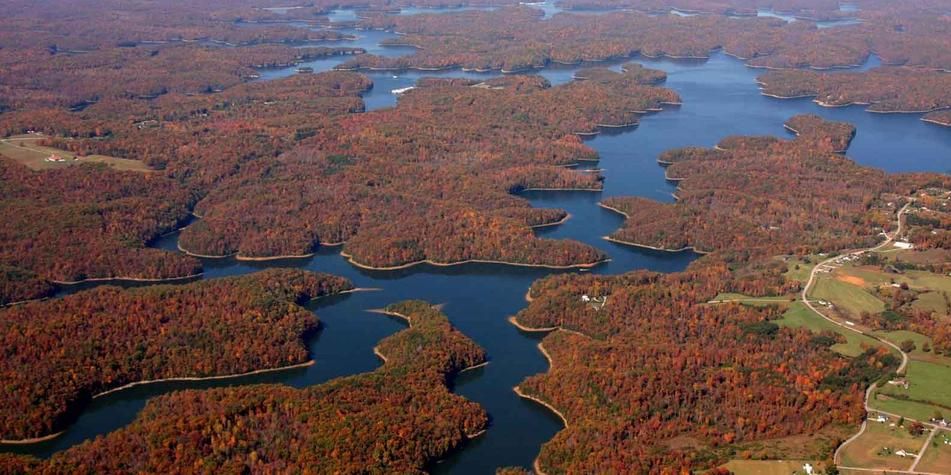 Laurel Lake from Above