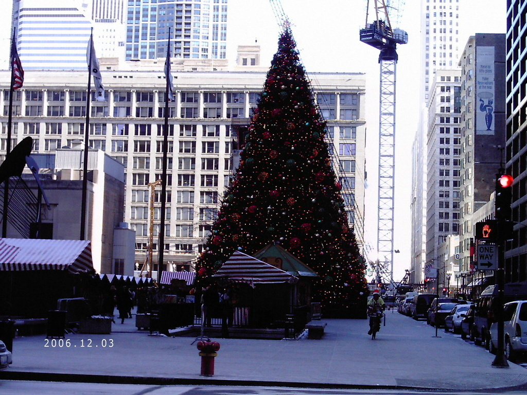 Chicago, IL : Tree at the 2006 Christkindle Market December 3