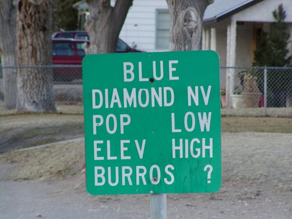 Blue Diamond, NV: Welcome to Blue Diamond, Nevada
