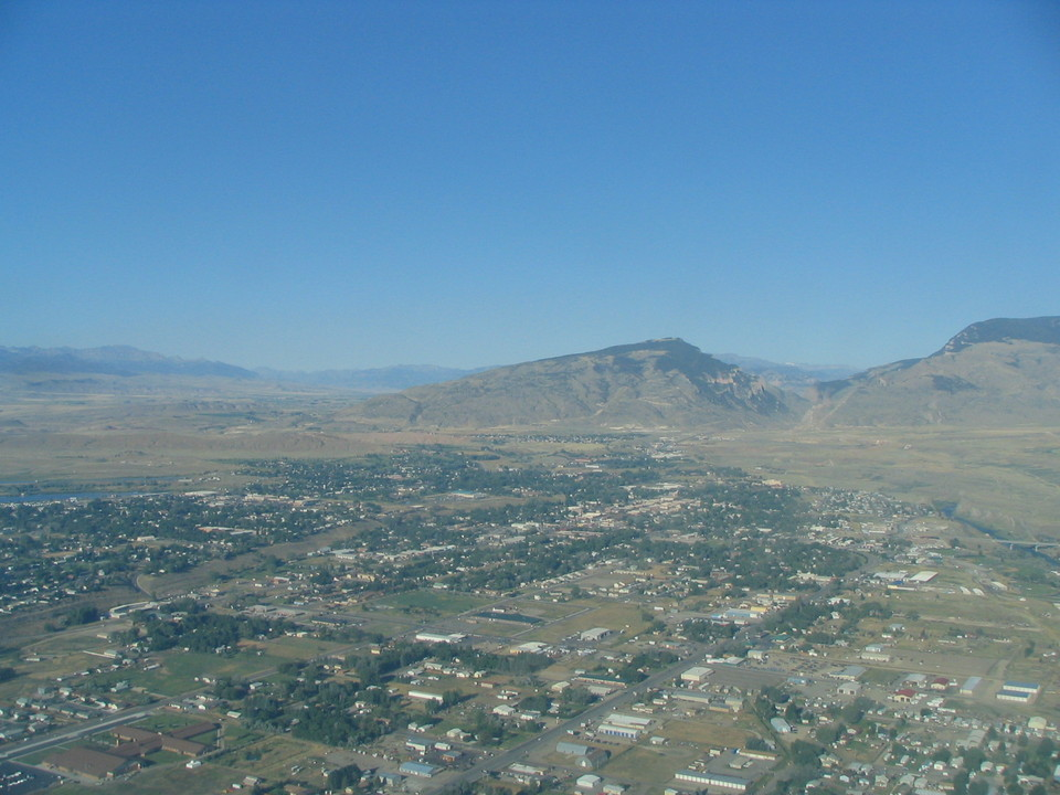 Cody, WY: Cody from Air