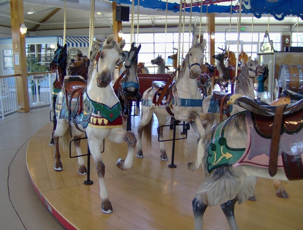 Logansport, IN : Dentzel Carousel located at Riverside Park