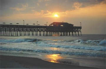 Great Garden City, SC: Sunrise Over The Garden City Beach Pier Gallery