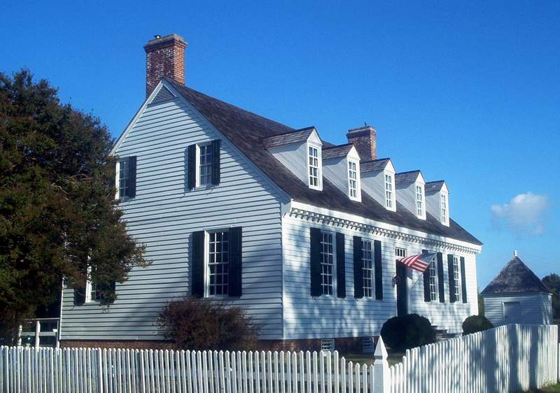 Yorktown, VA: Dudley Digges House - This classic Virginia Tidewater style home was built around 1760. It was restored in 1960.