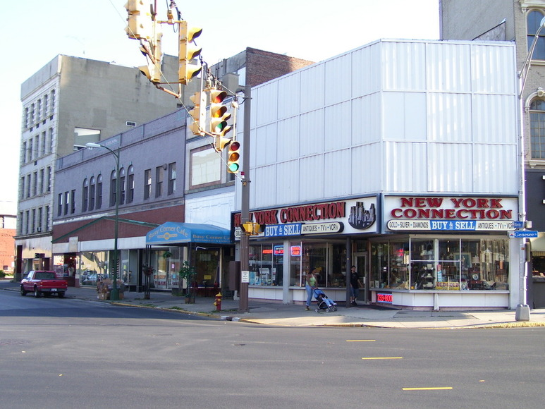 Utica, NY : downtown corner of Bleeker and Genesee Street