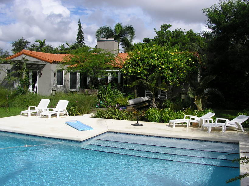 Miami Shores Fl A Nice Backyard Pool In Miami Shores