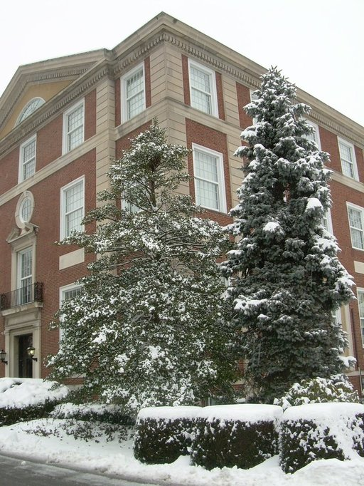 Garden city ny levermore hall on a snowy day a building on adelphi university 39 s garden city for Adelphi university garden city
