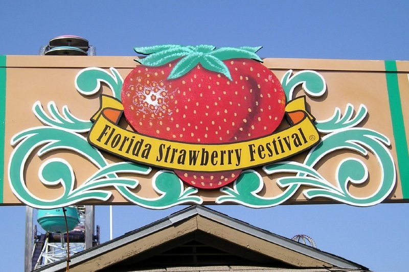 Plant City, FL : Florida Strawberry Festival Sign, Plant City