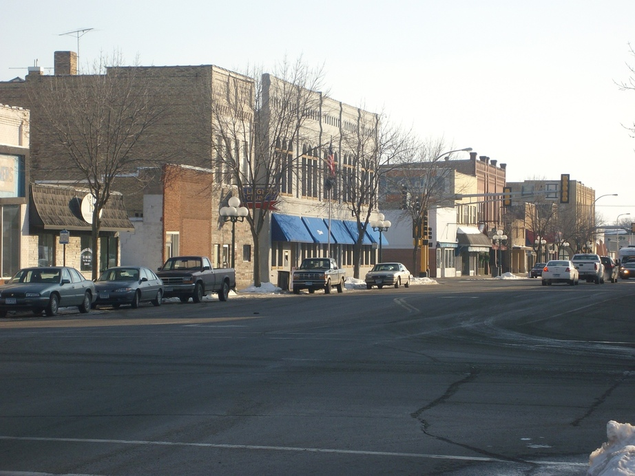 Little Falls, MN : Downtown Little Falls during the winter of 2008