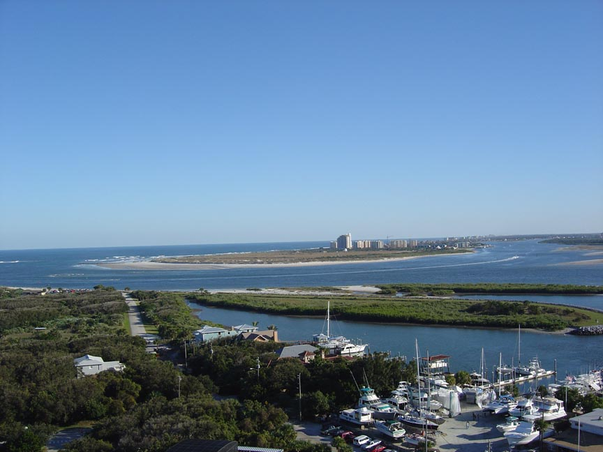 Ponce Inlet, FL : Ponce Inlet Looking South to New Symrna Beach, Fl