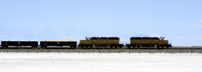 Wendover, UT : train in salt flats