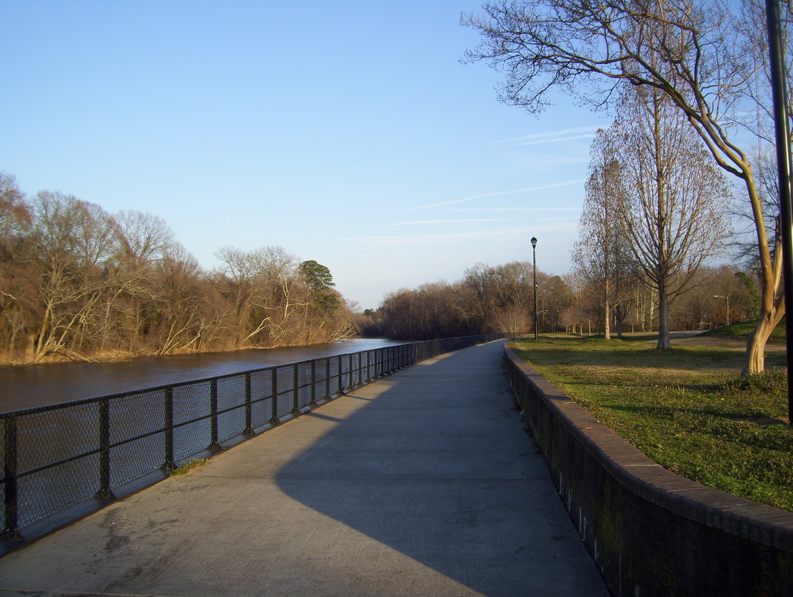 Greenville, NC : Tar River Boardwalk at Town Commons Park