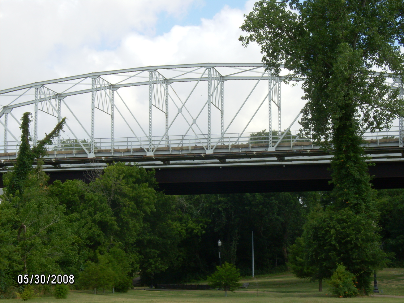 Bastrop, TX : Pedestrian bridge over the Colorado River Bastrop.