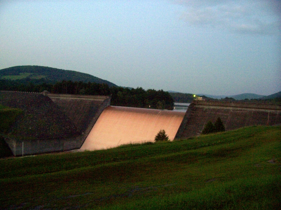 Franklin Ny Sunset On East Sidney Dam Overflow 2006