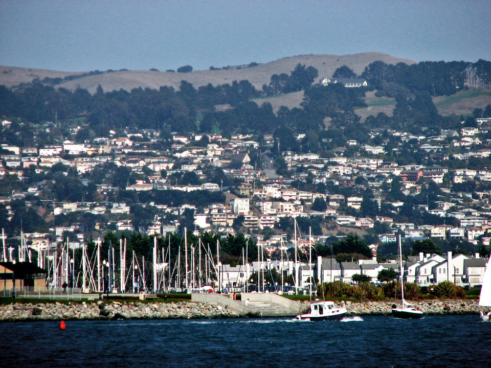 Richmond, CA : Looking east from Shipyard No. 3, Port of Richmond.